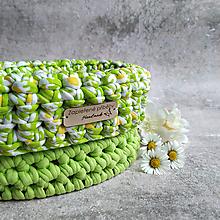 Košíky - Fresh Spring | malý háčkovaný košík - 13271197_