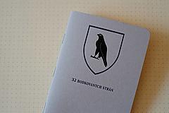Papiernictvo - Zápisník - ČS - Sivý, krémový papier bodkovaný - 13268214_