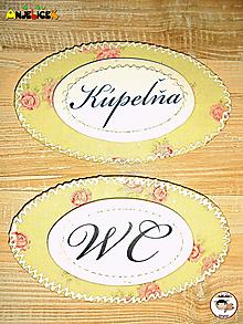 Tabuľky - Menovka - kúpeľňa a WC - 13267747_