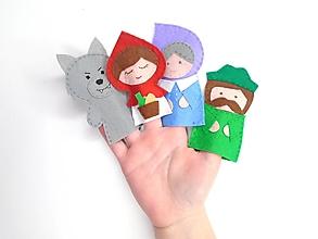 Hračky - Bábky na prsty: O červenej čiapočke - 13269105_