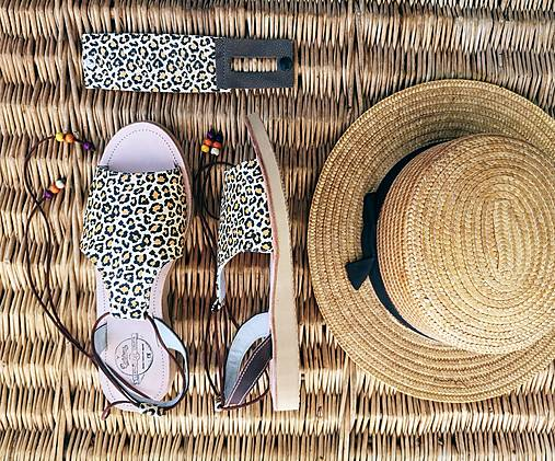 Obuv - Leopard sandalky - 13268274_