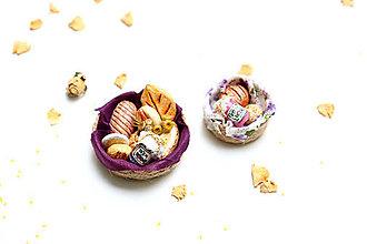 Dekorácie - Mini pečivo v košíčku V ♡ - 13267853_
