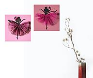 Detské doplnky - Handmade obraz 3D do detskej izby Baletka  - 13267471_