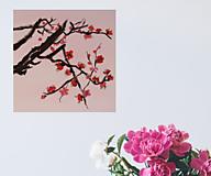 Obrazy - Obraz SAKURA Japonská čerešňa akryl na plátne 50 X 50 cm - 13269238_