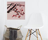 Obrazy - Obraz SAKURA Japonská čerešňa akryl na plátne 50 X 50 cm - 13269239_