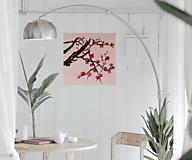 Obrazy - Obraz SAKURA Japonská čerešňa akryl na plátne 50 X 50 cm - 13269240_