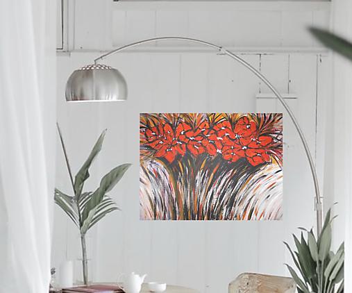 Obraz Červená kytica kvetov
