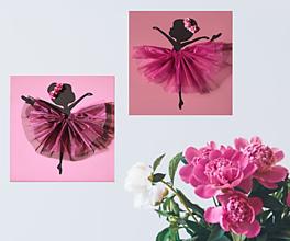 Obrazy - Darček pre dievčatko Baletka obraz do detskej izby - 13267570_