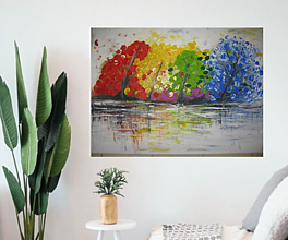 Obrazy - Obraz Farebný svet - akryl na plátne 70 X50 cm - 13269216_