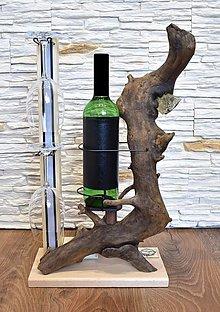 Dekorácie - Dekorácia - stojan na víno s LED osvetlením 2 - 13270582_