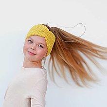Detské čiapky - KAMARÁTSKA* merino extra čelenka (42 farieb) - 13270729_