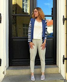 Nohavice - Kalhoty úpletové JURIN- se sníženým sedem - 13268949_