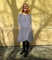 Šaty - šaty Máry- proužkované s kapsami - 13269067_