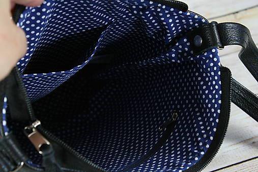 Kožená modrotlačová Dara čierna AM 1
