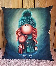 Úžitkový textil - Vankúš bábika - 13267987_