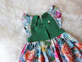 Detské oblečenie - Dievčenské šaty s háčkovaným živôtikom (Dália) - 13268443_