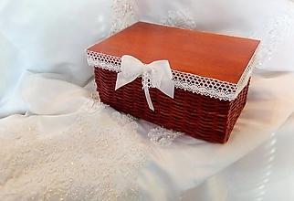 Košíky - Svadobná krabička čerešňová / ks - 13267345_