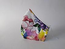 Rúška - VÝPREDAJ dámske dizajnové rúško prémiová bavlna antibakteriálne s časticami striebra dvojvrstvové tvarované - 13271281_