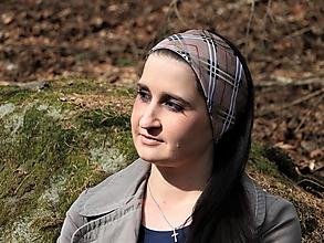 Ozdoby do vlasov - Úpletová čelenka Barbora - 13272297_