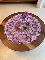 Úžitkový textil - Romantický stredový obrus v levanduľovej farbe - 13274783_