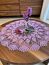 Úžitkový textil - Romantický stredový obrus v levanduľovej farbe - 13274784_