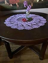 Úžitkový textil - Romantický stredový obrus v levanduľovej farbe - 13274788_