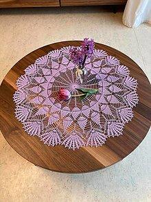 Úžitkový textil - Romantický stredový obrus v levanduľovej farbe - 13274782_