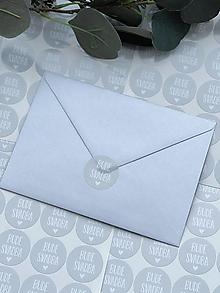 Papiernictvo - Nálepky Bude svadba sivé - 20ks - 13271601_