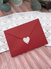 Papiernictvo - Nálepka na obálku Berieme sa béžové srdiečko - 20ks - 13276249_