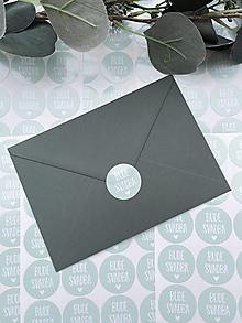 Papiernictvo - Nálepky Bude svadba zelené - 20ks - 13276283_