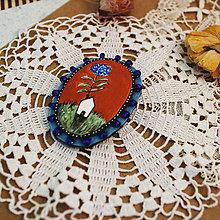 Odznaky/Brošne - Doma III./ originál brošňa s ilustráciou - 13272021_