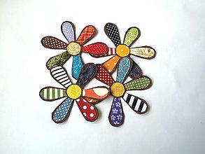 Materiál ručne robený - Textilné kvietky 15 cm - 13272628_