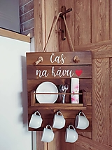 - Nástenná dekorácia na kávové šálky (Hnedá) - 13276368_