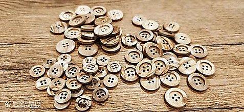 Galantéria - Plastový gombík - imitácia dreva (15 mm) - 13271364_