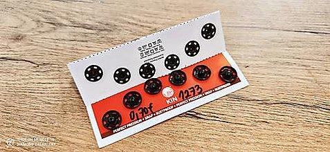 Galantéria - Patent kovový 13 mm (Čierna) - 13271455_