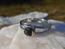 Prstene - little OBSIDIUS-Obsidián-prsteň - 13276250_