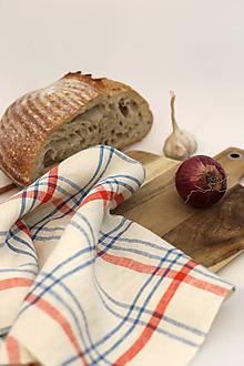 """Úžitkový textil - Ľanová utierka s kockovaným vzorom """"Linenhome"""" - 13273323_"""