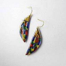Náušnice - Tana šperky - keramika/zlato - 13272329_