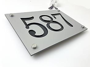 Tabuľky - Popisné číslo: Číslo Modern (4 čísla) - 13271337_