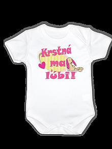 Detské oblečenie - Origoš body - krstná ma ľúbi. - 13274658_