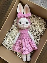 Hračky - zajačica Fifinka - v ružovom - 13275086_