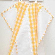 Úžitkový textil - DORA - žlté káro veľké - utierka 60x40 - 13275257_