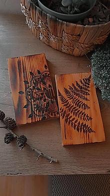 Dekorácie - Vypálený obraz na dreve - 13274365_
