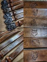 Opasky - Ručne vyrobený opasok z hovädzej kože - 13274775_