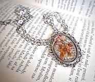 - Náhrdelník živica ornament ovál - 13272059_