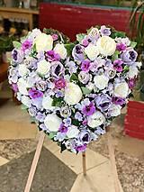 Dekorácie - Veniec Srdce LILA - 13274785_