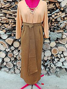 Sukne - Elegantná dlhá sukňa - 13275600_