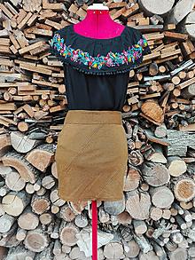 Sukne - Minisukňa s pepito vzorom - 13275766_