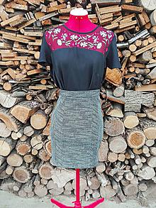 Sukne - Minisukňa s pásikavým vzorom - 13275952_