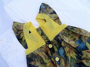 Detské oblečenie - Dievčenské šaty s háčkovaným živôtikom (Orech) - 13272922_